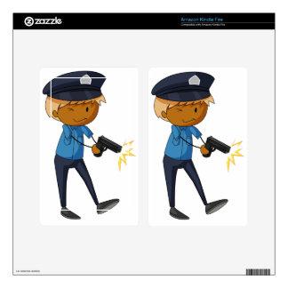 Policeman Kindle Fire Decal