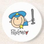 Policeman Occupation Coaster
