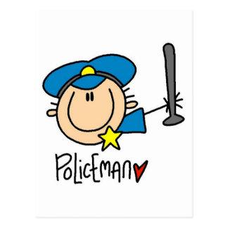 Policeman Occupation Postcard