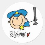 Policeman Occupation Round Sticker