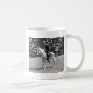 Policeman on White Horse, 1921 Coffee Mug