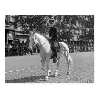Policeman on White Horse, 1921 Postcard