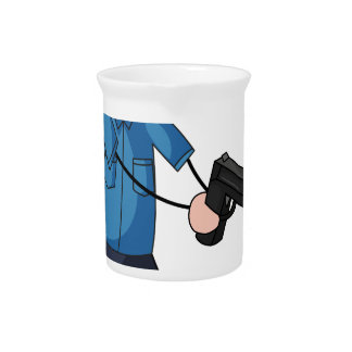 Policeman Drink Pitchers