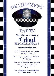 Police Retirement Invitations Zazzle