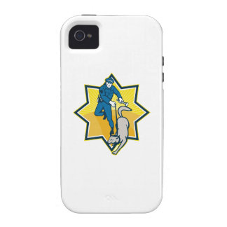 Policeman Police Dog Canine Team iPhone 4/4S Cases