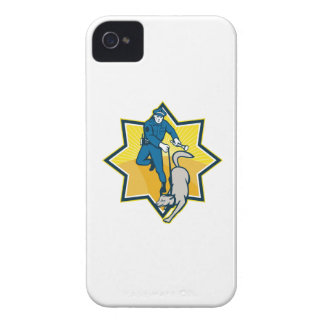 Policeman Police Dog Canine Team Case-Mate iPhone 4 Case