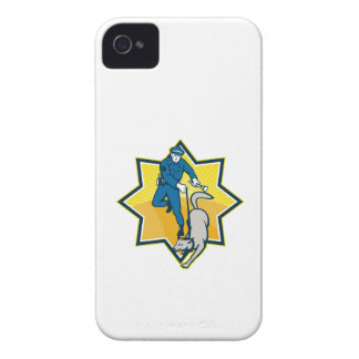 Policeman Police Dog Canine Team iPhone 4 Cases