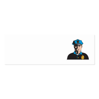 Policeman Police Officer Double-Sided Mini Business Cards (Pack Of 20)