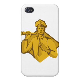 policeman police officer flashlight iPhone 4/4S cover
