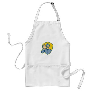 Policeman Police Officer Hand Stop Shield Adult Apron