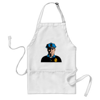 policeman police officer law enforcement aprons