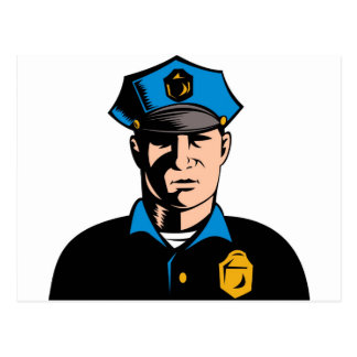 policeman police officer law enforcement postcard