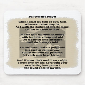 Policeman s Prayer Mouse Pad