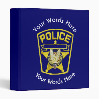 Policeman's Shield Custom 3 Ring Binder
