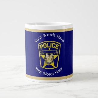 Policeman's Shield Custom Giant Coffee Mug