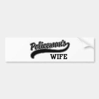 Policeman s Wife Bumper Stickers