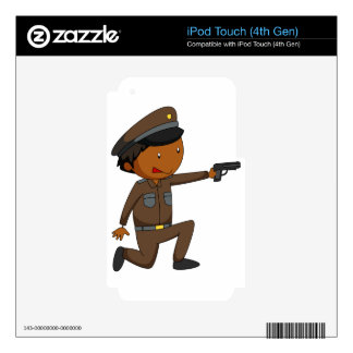 Policeman Decals For iPod Touch 4G