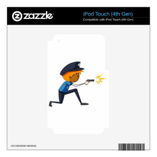 Policeman iPod Touch 4G Decals