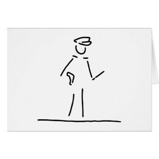 policeman uniformly police card