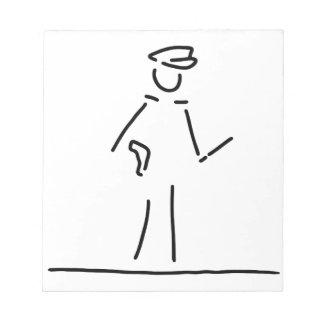 policeman uniformly police notepad
