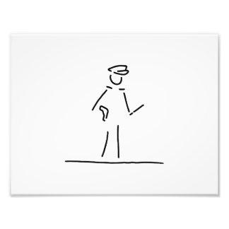 policeman uniformly police photo print