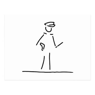 policeman uniformly police postcard