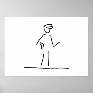 policeman uniformly police poster