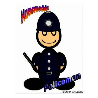Policeman (with logos) postcard