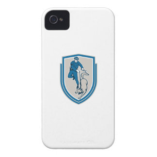 Policeman With Police Dog Canine Crest Retro Case-Mate iPhone 4 Cases