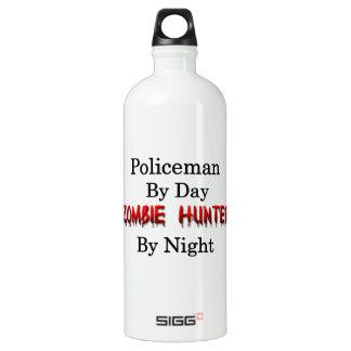 Policeman/Zombie Hunter Aluminum Water Bottle