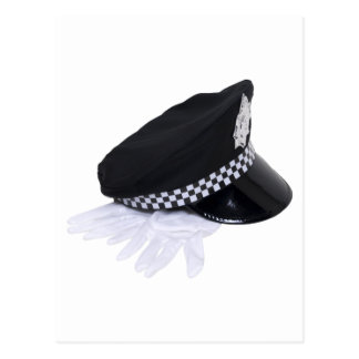 PolicemanHatGloves111009 copy Postcard