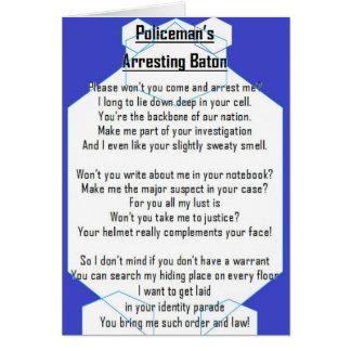 Policeman's Arresting Baton card