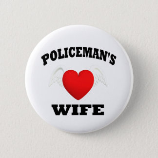 Policeman's Wife Button