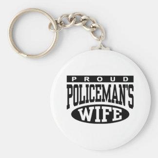 Policeman's Wife Keychain