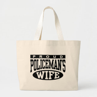Policeman's Wife Large Tote Bag