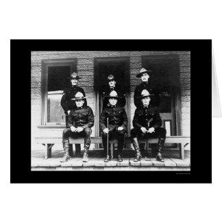 Policemen from Dawson Yukon Territory 1906 Greeting Card