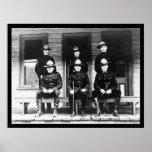 Policemen from Dawson Yukon Territory 1906 Print