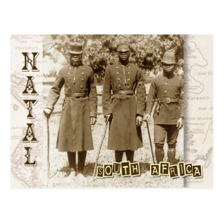 Policemen in Natal, South Africa Post Card