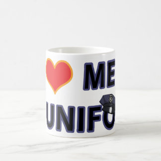 POLICEMEN IN UNIFORM COFFEE MUG