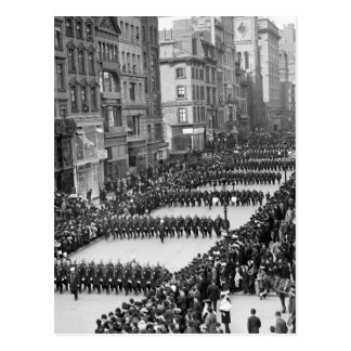 Policemen s Parade on 5th Ave NYC 1900 Post Cards