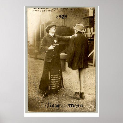 Policewoman, 1909 print
