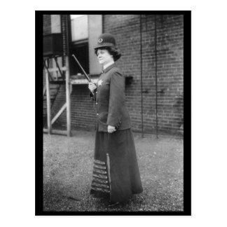 Policewoman 1909 Suffragette Vintage Postcard