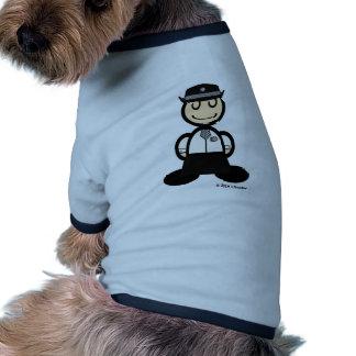 Policewoman (plain) dog t shirt