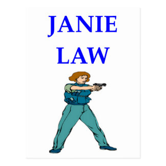 POLICEWOMAN POSTCARD