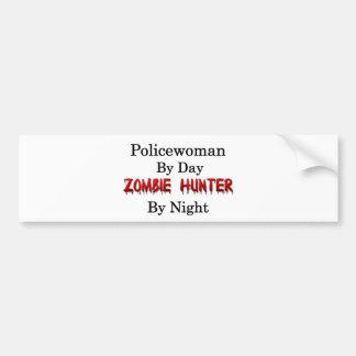 Policewoman/Zombie Hunter Bumper Sticker