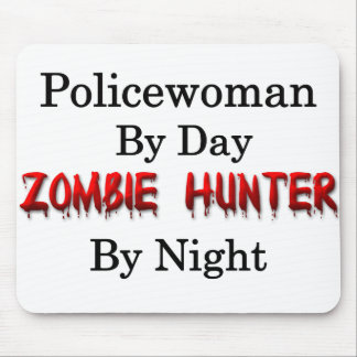 Policewoman/Zombie Hunter Mouse Pad