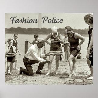 Policía 1922 de la moda poster