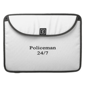 Policía 24/7 fundas para macbooks