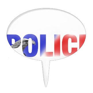 Policía 2 figura de tarta
