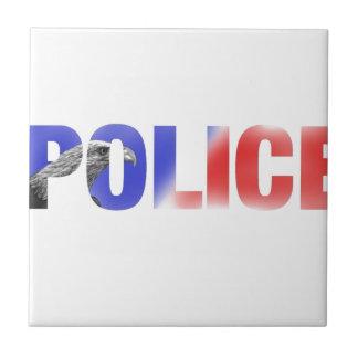 Policía 2 azulejo cuadrado pequeño